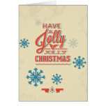 Faux 3D Snowflake Typography Christmas Greeting Card
