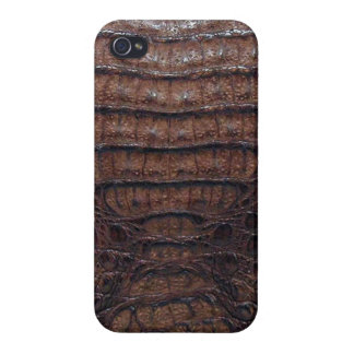 Faux Alligator Skin Print iPhone 4 Case