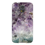Faux amethyst crystal geode gemstone photo hipster galaxy s5 cover