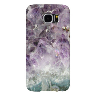 Faux amethyst crystal geode gemstone photo hipster samsung galaxy s6 case