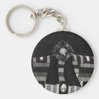 Faux and jeweled Key Chain
