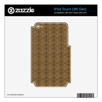 Faux Animal Small Cheetah Fur Pattern Skin Decal For iPod Touch 4G