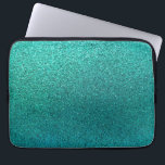"Faux Aqua Teal Turquoise Blue Glitter Background S Laptop Sleeve<br><div class=""desc"">Use our cool template, artwork, photo, graphic, or illustration, then add a name, text, quote, or monogram to create your own custom or monogrammed laptop cover. Click the &quot;Customize it!&quot; button to make it totally customized. These computer covers are great gifts for men, women, and kids (and you, too, of...</div>"
