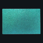 """Faux Aqua Teal Turquoise Blue Glitter Background S Placemat<br><div class=""""desc"""">Use our cool template, artwork, photo, graphic, or illustration, then add a name, text, quote, or monogram to create your own custom or monogrammed place mat. Click the &quot;Customize it!&quot; button to make it totally customized. These placemats are great gifts for men, women, and kids (and you, too, of course!)....</div>"""