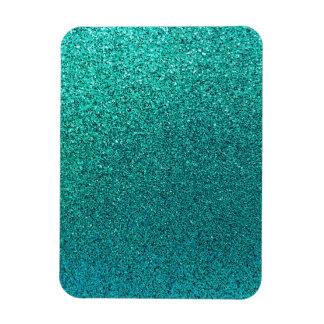 Faux Aqua Teal Turquoise Blue Glitter Background S Rectangular Photo Magnet