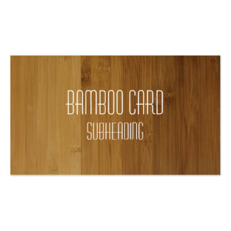 Faux Bamboo Wood Business Card