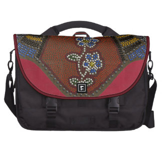 faux beaded floral and bands commuter bag