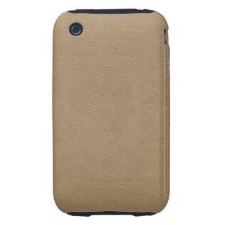 Faux Beige Leather iPhone 3 Tough Case