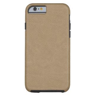 Faux Beige Leather Tough iPhone 6 Case