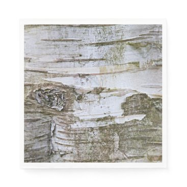 ZizzleZazz Faux Birch Tree Bark Texture Look Pattern Napkin