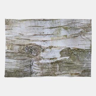 Faux Birch Tree Bark Texture Look Pattern Towels