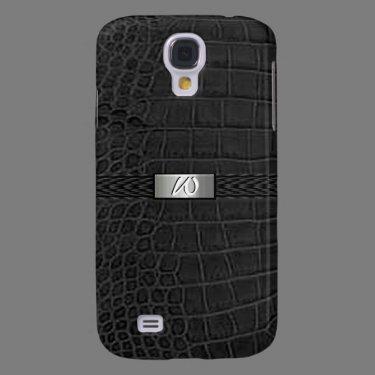 Faux Black Alligator Monogram Galaxy S4 Covers