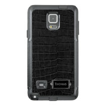 Faux Black Alligator Otterbox Samsung Note 4 Case
