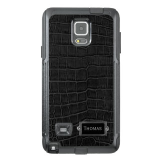 Faux Black Alligator Otterbox Samsung Note 4 Case