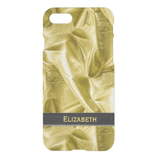: Faux Black and Gold Lame' Metallic iPhone 8/7 Case
