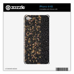 Faux black & Gold Seed Beaded IPhone Skin Skins For iPhone 4S