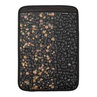 Faux Black & Gold Seed Beaded Mac Air Case