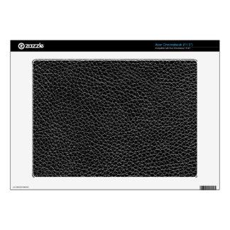 Faux Black Leather Acer Chromebook Skins