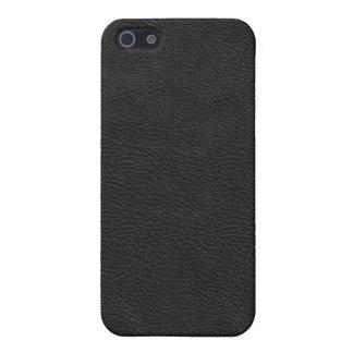 Faux Black Leather iPhone SE/5/5s Case