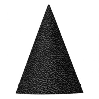 Faux Black Leather Party Hat