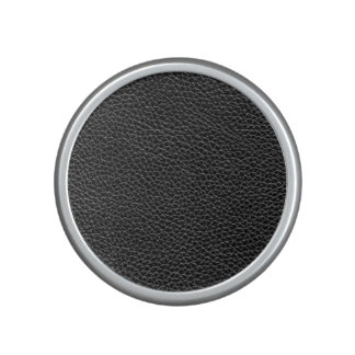 Faux Black Leather Speaker