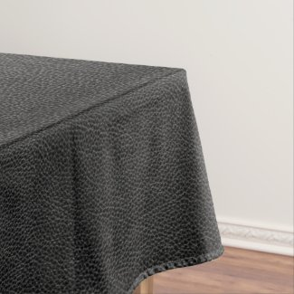 Faux Black Leather Tablecloth