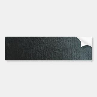 Faux Black Leather Texture Bumper Sticker