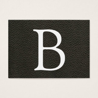 Faux Black Leather Texture Business Card