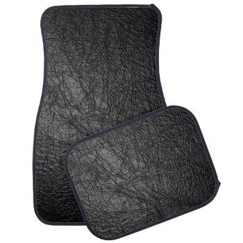 Faux Black Leather Texture Car Mat