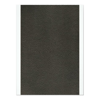Faux Black Leather Texture Card