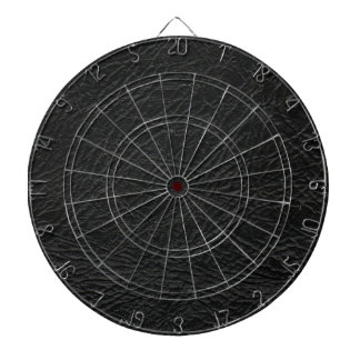 faux black leather texture dartboard with darts