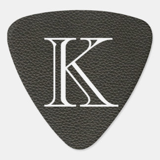 Faux Black Leather Texture Guitar Pick