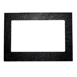 Faux Black Leather Texture Magnetic Photo Frame