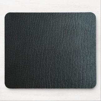 Faux Black Leather Texture Mousepads