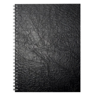 Faux Black Leather Texture Notebook