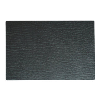 Faux Black Leather Texture Laminated Place Mat