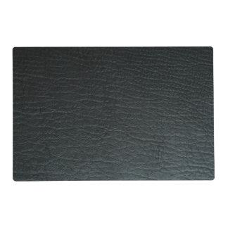 Captivating Faux Black Leather Texture Placemat