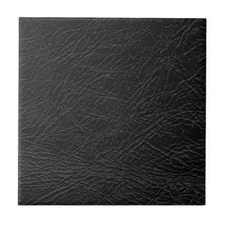 faux black leather texture tile