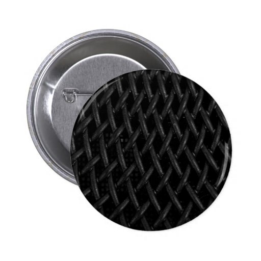 Faux Black Mesh Texture 2 Inch Round Button