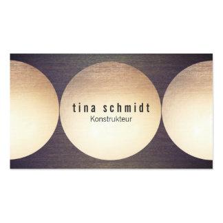 Faux Blattgold Kreis Holz Moderne Visitenkarte Business Card