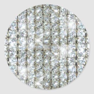 Faux Bling Round Stickers