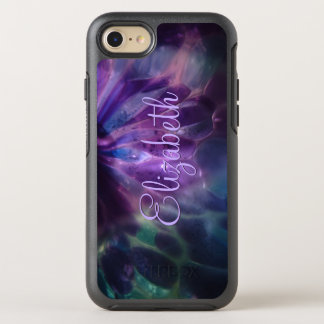 Faux Blown Glass Custom Name OtterBox Symmetry iPhone 8/7 Case