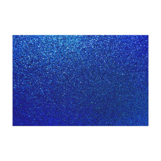Faux Blue Glitter Background Sparkle Texture Canvas Print
