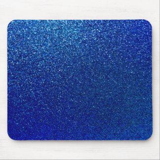 Faux Blue Glitter Background Sparkle Texture Mouse Pad