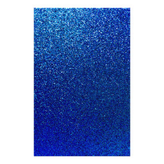 Faux Blue Glitter Background Sparkle Texture Stationery