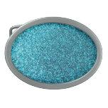 Faux Blue Glitter Belt Buckles