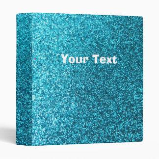 Faux Blue Glitter Binder