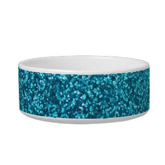 Faux Blue Glitter Bowl