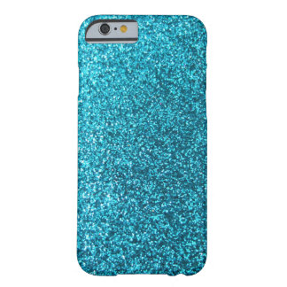 Faux Blue Glitter Barely There iPhone 6 Case