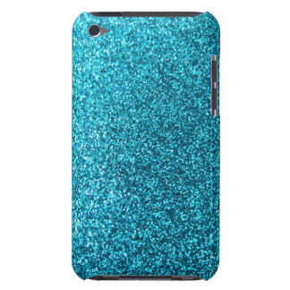 Faux Blue Glitter iPod Touch Cases